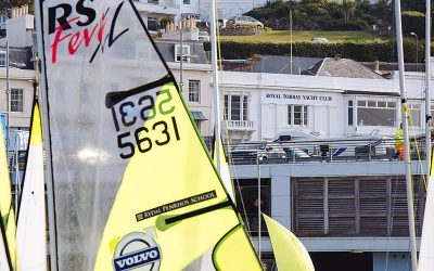 Volvo Grand Prix Circuit kicked off the new season with a light wind event at Royal Torbay YC
